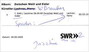 2009 SWR2 German radio